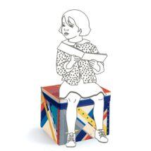 Játéktároló ülőke - Rakéta - Rocket toy box - Djeco