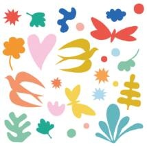 Ablakmatrica - Colored fantasy - 36 stickers Djeco