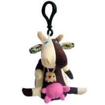 Les Deglingos Mini plüss Kulcstartó MILKOS - a tehén