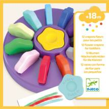 Marokkréta - 12 színű vírág - 12 flower crayons for toddlers Djeco Design by