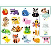 Matricák - Bébi állatok - Baby animals Djeco Design by