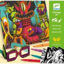 3D színező - Vicces lények - Funny Freaks 3D Djeco Design by