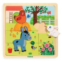 Képkirakó, puzzle - Farm puzzle - Puzzlo Farm Djeco