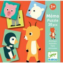 Memóriajáték - Fél állat párosító - Memo Animo-puzzle Djeco