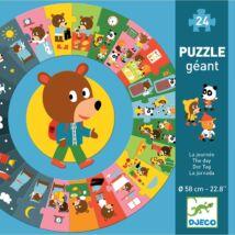 Óriás kör alakú puzzle - Mackó napja - The day Djeco