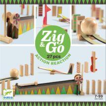 Építőjáték - Zig & Go - 27 db-os Djeco