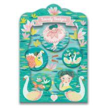 Kitűzők - Balerina - lovely badges Djeco Lovely Paper
