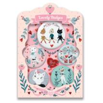 Kitűzők - Macskák - lovely badges Djeco Lovely Paper