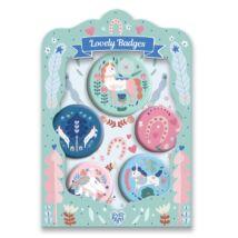 Kitűzők - Lovak - lovely badges Djeco Lovely Paper