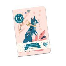 Jegyzetfüzet 146 db matricával - Lucille stickers notebook Djeco Lovely Paper