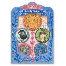 Kitűzők - Virulás - lovely badges Djeco Lovely Paper