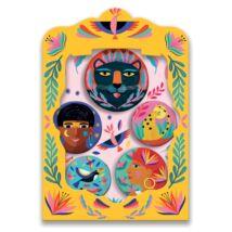 Kitűzők - Vadállatok - lovely badges Djeco Lovely Paper