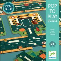 Pop to play Puzzle - Roads - DJECO