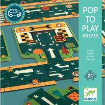 Pop to play Puzzle - Roads - DJECO