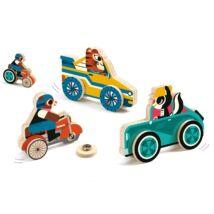 Szerelő játék - Kattintós autó - Clipacar - Djeco