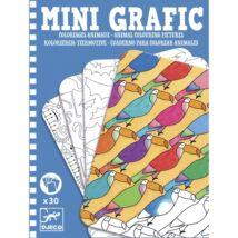 Mini grafika - Állati színező - Animal colouring pictures- DJECO