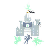 Minimobil - Várkastély sárkányokkal - Castle and dragons- DJECO