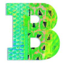 Dekorbetű - B - Peacock letter- DJECO