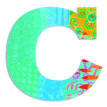 Dekorbetű - C - Peacock letter- DJECO