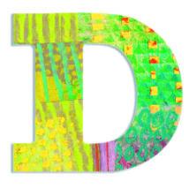 Dekorbetű - D - Peacock letter- DJECO