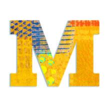 Dekorbetű - M - Peacock letter- DJECO