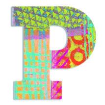 Dekorbetű - P - Peacock letter- DJECO