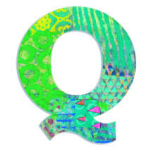 Dekorbetű - Q - Peacock letter- DJECO