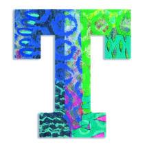 Dekorbetű - T - Peacock letter- DJECO