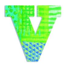 Dekorbetű - V - Peacock letter- DJECO