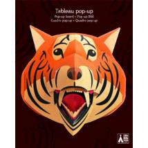 3D-s faldekoráció -  Tigris - Tigrorange- DJECO