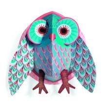 3D-s faldekoráció - Szeretni való bagoly - Pretty Owl- DJECO