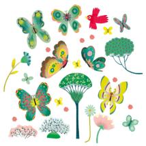 Ablakmatrica - Kerti pillangók - Butterflies in the garden- DJECO