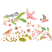 Ablakmatrica - Romantikus madarak - Romantic birds- DJECO