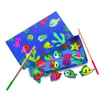 Horgász játék - Színes horgászat - Coloured fishing- DJECO