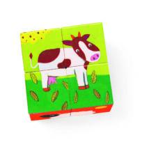 Kockakirakó - Színes farm - Coloured farm- DJECO