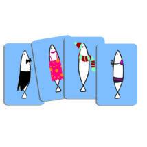 Kártyajáték - Hal halmozó - Sardines- DJECO