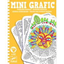 Mini grafika - Mandalák - Colouring mandalas- DJECO