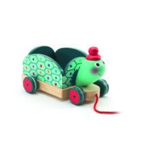 Húzható játék - Clementine, a teherhordó teknős- DJECO