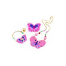 Hairbrushes - Embroidered jewels butterflies- DJECO