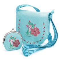 Embroidered kitten bag and purse- DJECO