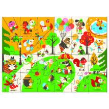 Óriás puzzle - Játszótér - Flocky puzzle - Square- DJECO