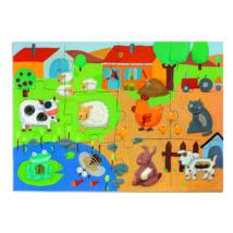 Óriás puzzle - Tanya - Tactile farm puzzle- DJECO