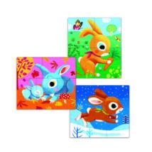 Primo puzzle -  Nyuszik - Rabbits- DJECO
