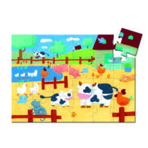 Formadobozos puzzle - Bocik és tehenek - The cows on the farm- DJECO