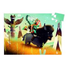 Formadobozos puzzle - Tatanka az ifjú indián - Tatanka, young indian- DJECO