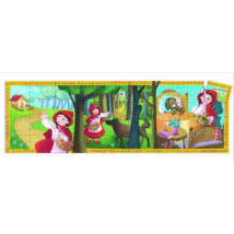 Formadobozos puzzle - Piroska és a farkas - Little Red Riding Hood- DJECO