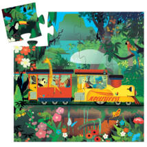 Formadobozos puzzle - Lokomotív - The locomotive - DJECO