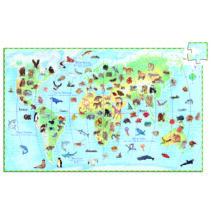 Megfigyeltető puzzle - Föld állatai, 100 db-os - DJECO