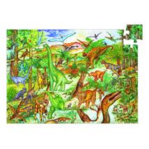 Megfigyeltető puzzle - Dinoszauruszok 100 db-os - DJECO