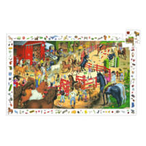 Megfigyeltető puzzle - Lovaglás 200 db-os - Horse riding- DJECO